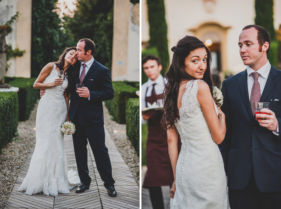 A portraits of Bride and groom at Villa le piazzole in Florence | Livio Lacurre Photography
