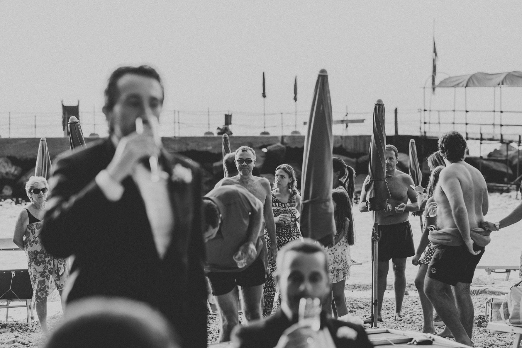 the party beach - wedding in Vico Equense