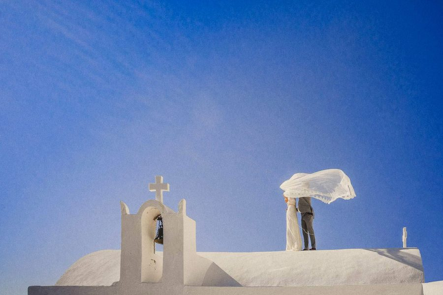intimate wedding photography in santorini
